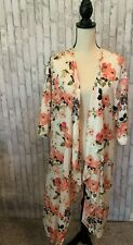 LuLaRoe Shirley Flowing Floral Duster Cover-Up Kimono Size Medium