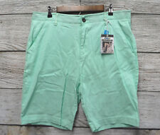 Plugg Mens Size 32 Mint Green Stretch Flex Waist Casual Shorts New