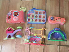 Littlest Pet Shop Lot 4 Playset House Treehouse Get Better Center Dome Case Set