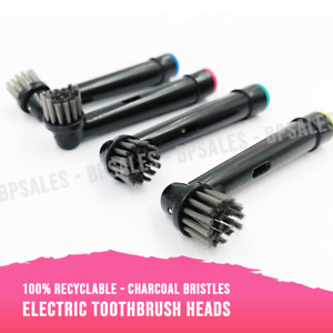 ELECTRIC TOOTHBRUSH HEADS WITH CHARCOAL BRISTLES - WHITE TEETH - RECYCLABLE