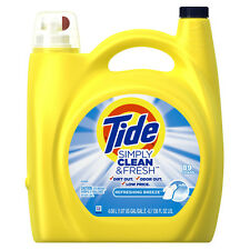 Tide Simply Clean Refreshing Breeze Laundry Detergent, 138 oz