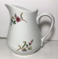 "BIA Cordon Bleu Creamer Ceramic White Floral 4 3/4"" Tall NWOB"