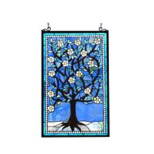 ~LAST ONE THIS PRICE~  Tiffany Style Stained Glass Window Panel Tree of Life