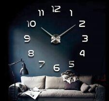 Wanduhr Groß A141 3D Wand Uhr Ziffern XL XXL  Chrom Spiegeluhr 80cm - 120cm