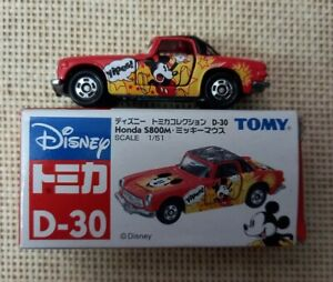 Classic Tomy Tomica Disney Honda S800M No.D-30 with Box Year 2006