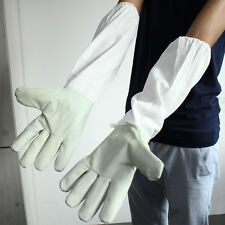 Protective Beekeeping Gloves Goatskin Bee Keeping with Vented Long Sleeves Guard