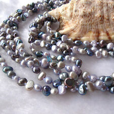 """74"""" 5-6mm  Multi Color Baroque Freshwater Pearl Necklace B UJ"""
