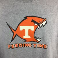 Vintage 90s Tennessee Feeding Time T-Shirt Top of Food Chain UT University XL