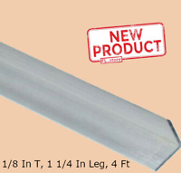 Aluminum Angle 1/8 Inch x 1-1/4 Inch x 4 Ft Unpolished Alloy Smooth 90° Stock