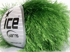 Green Eyelash Yarn #50639 Ice - New Color! 50 Gram Green Long Eyelash