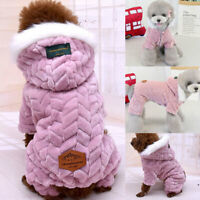 Warm Pad Dog Coat Jacket Chihuahua Pet Winter Hoodies Puppy Cat Jumpsuit Clothes