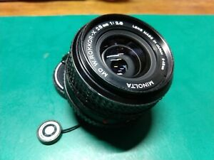 Minolta W.Rokkor-X 28mm f/2.8 MD Lens