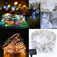 50/100LED Copper Wire Twinkle Light String Solar Power Waterproof Party Decor
