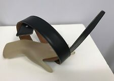 HERMES LEATHER BELT STRAP BLACK COMES WITH AN ORANGE HERMES SLEEPER SAC SIZE 70