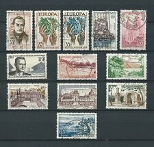 FRANCE - 1957 YT 1120 à 1131 - TIMBRES OBL. / USED