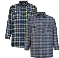Mens KAM Flannel Quilted Work Shirt Checked Casual Jacket  Big Size 2-8XL