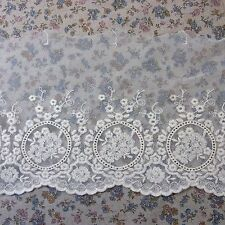 "Antique Style Floral Embroidered Tulle Lace Trim 6.7""(17cm) Wide 1Yd"