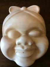 VINTAGE ART DECO RETRO SMOOTH PLASTER MAMMY WALL PLAQUE HEAD