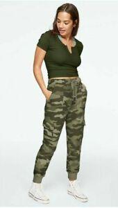 BRAND NEW Victoria Secret VS PINK Cargo Jogger Sweatpants Fleece Camo Small NWT