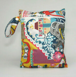 Small Wet Bag for Nappies, Breast Pads, Wipes, Cloth Pads - Yellow Submarine *UK