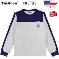 TaiMoon Kids Boys Children Long Sleeve Cotton Baseball T-shirt Tee Tops Costume