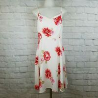 Old Navy Women's Small Dress Floral White Pink