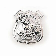 FURY Special Silver Star Police Badge (2.5 x 2.5-Inch)