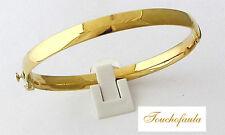 14K yellow gold High Polished Wide 6 mm Bangle Bracelet 7.9 grams.
