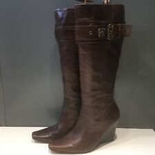LADIES NEXT BROWN LEATHER KNEE HIGH BOOTS SIZE 37, UK 4