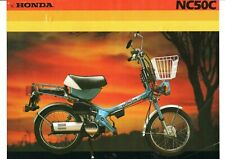 1982 HONDA NC50C express Scooter 2 Page Motorcycle Sales Brochure NCS