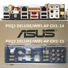 Original ASUS IO I/O SHIELD P5Q3 DELUXE/WiFi-AP CH1-14 , CH1-11 #G5147 xh
