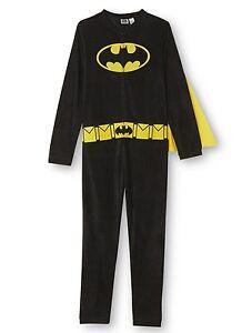 NEW Mens Batman Pajamas Union Suit Size SMALL MEDIUM Adult One Piece Costume S-M