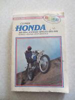 1970 - 1978 Honda 100cc - 350cc singles motorcycles  - Clymer maintenance manual