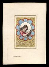 santino incisione1800 S.MARIA MADDALENA dip. a mano
