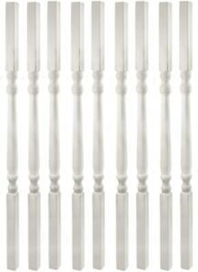 """LMT 3140-34.0-WHITE 1 1/4"""" Sq x 34"""" Colonial Vinyl Spindle - White (Pack of 9)"""