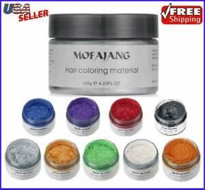 Hair Color Wax Unisex DIY Mud Dye Cream Temporary Modeling 9 Colors Mofajang