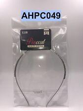 PINCCAT  HAIR GEMS 1 HAIRBAND ONE ROW OF RHINESTONES AHPC049 SILVER TONE