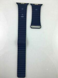 Original Genuine OEM Apple Watch Leather Loop Band 42mm 44MM Bright Blue Large