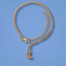 Boutique Minimalist Moon Pendant in 18K Gold (3 day Free Shipping)
