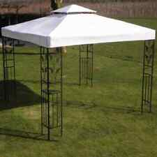 vidaXL Gazebo Roof White 3x3m Fabric Outdoor Marquee Pavilion Canopy Cover