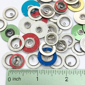 50 Mainsprings Watch Parts Steampunk Watchmakers Lot Clock Pocket Springs Gears