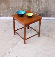 60er Teak Beistelltisch Danish Mid-Century 60s Side Table Vintage