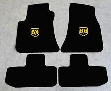 Autoteppich Fußmatten für Dodge Challenger ab Bj.2008 Velours Nubuk gelb Neu