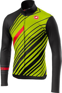 NEW Castelli Cielo Jersey FZ, Yellow/Black, Size Large
