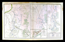 Civil War Map - Battle of Petersburg - Army of the Potomac Artillery Position