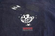 1990s NERVOUS NEW YORK Vintage t-shirt 90s Blue XL Official Nervous Wear