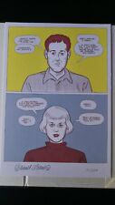 DANIEL CLOWES, NUMBERED & SIGNED PRINT, VERY RARE! (Chris Ware, Tomine, Burns...