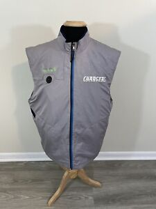 Los Angles Chargers Reebok Authentic NFL Football System Control Vest Jacket (L)