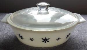 PYREX 'Snowflake' Lidded Casserole Dish, retro, vintage, shabby chic