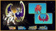 Solgaleo Lunala Legendary Shiny Event Pokemon Ultra Sun Moon USUM 3DS